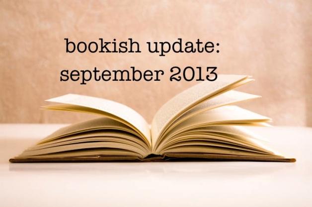 bookish updates sep 2013