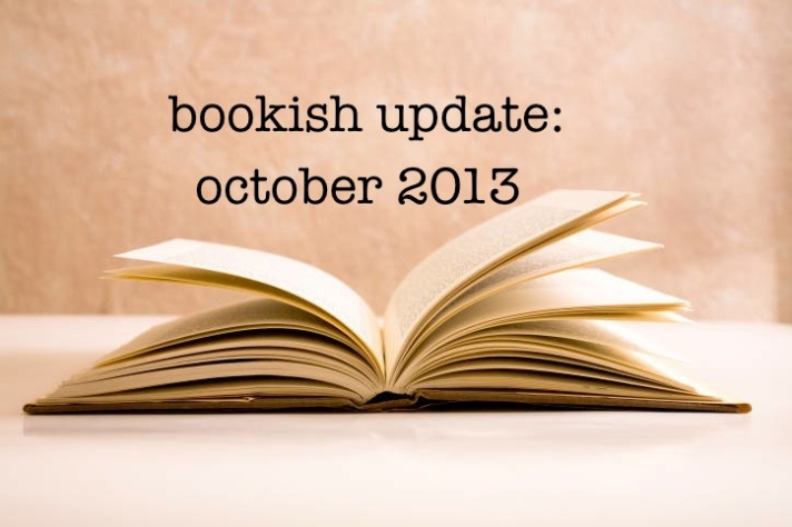 bookish updates oct 2013